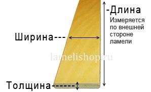 измерение ламели